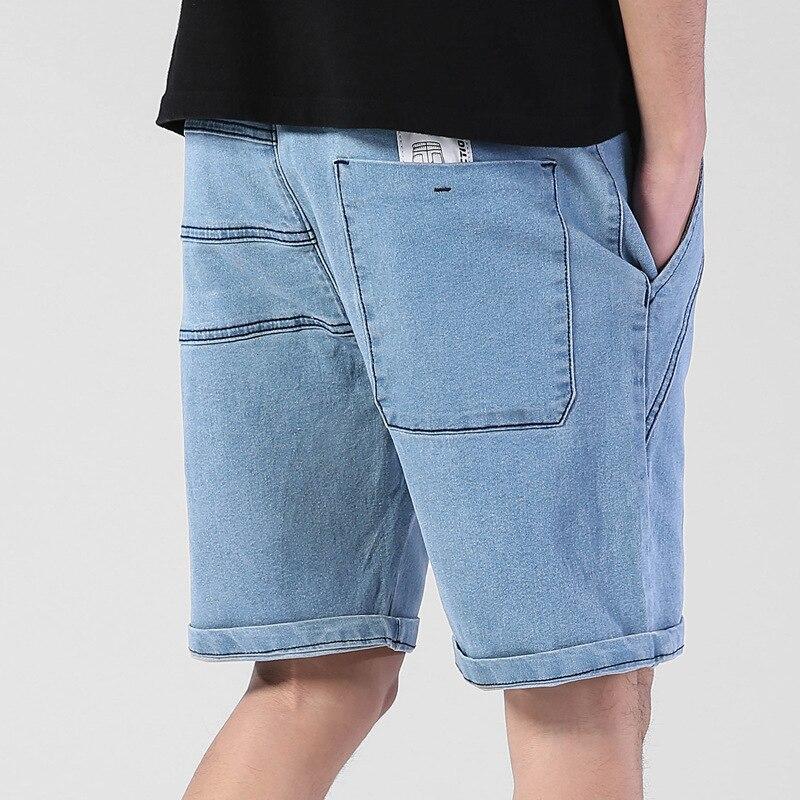 Jeans Bermuda Shorts Casual Large-Size Elastic Male Mens Summer 4XL 5XL Fat 6XL Big Thin