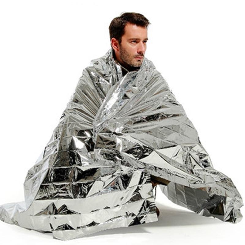 130x210cm Portable Waterproof Emergency Blanket Windproof Survival Rescue Thermal Mylar Blankets Outdoor Life-saving Equipmet Тостер