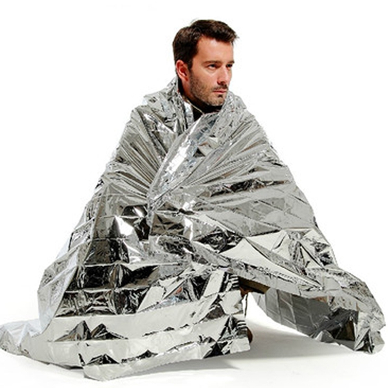 130x210cm survival emergency mylar waterproof sleeping bag foil thermal blanke X Camping & Outdoor