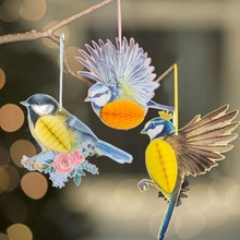Hawaiian Tropical Party Decorations 3pcs/set Hanging 3D Vivid Honeycomb Bird For Wedding Tea Spring Birthday