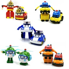6 Styles Korean Kid Toys Robocar Poli Transformation Robot Poli Amber Roy Car Toys Action Figure Toys For Children Best Gifts robocar poli poli helly amber roy transformable robot toys