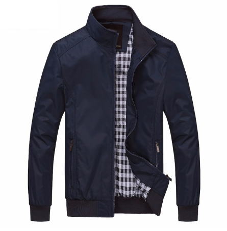 Strong colour New 2019 Informal Jacket M-5XL 6XL Males Spring Autumn Outerwear Mandarin Collar Clothes Jackets, Low-cost Jackets, Strong colour New 2019 Informal Jacket M 5XL 6XL Males Spring...