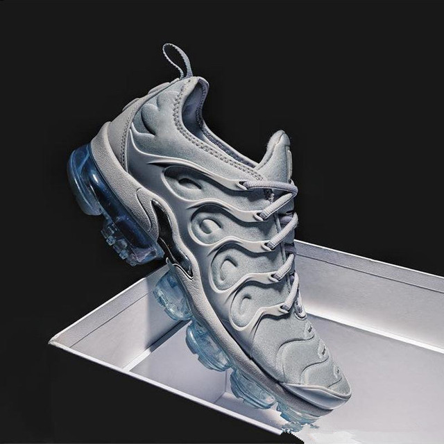 promo code 4d23d 2b8b5 US $44.99 |2018 New Air Vapormax Plus Tn Plus Olive In Metallic White  Silver Colorways Shoes Men Shoes For Running Pack Mens Shoes-in Running  Shoes ...