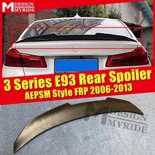 E93 Spoiler AEPSM style FRP Primer black rear lip wing For BMW 3 Series 320i 323i 325i trunk Lip 2006-2013