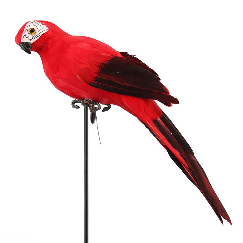35cm Handmade Simulation FeatherFoam Parrot Macaw Creative Lawn Figurine Ornament Animal Bird Garden Bird Parrot Prop Decoration
