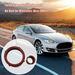 Acessórios do carro Turbo & Respiro Intake Kit de Vedação Vermelho para Mercedes-Benz OM642