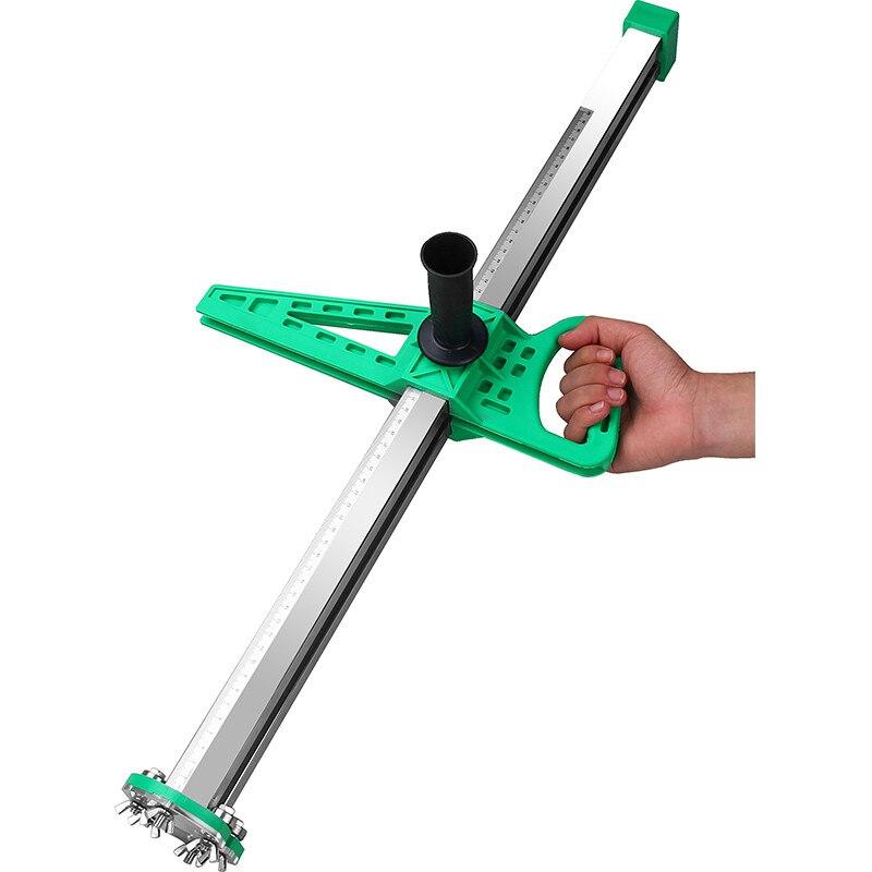 Nouveau Type de rouleau d'artefact de coupe de panneau de gypse manuel d'acier inoxydable outil de coupe de cloison sèche de poussée de main