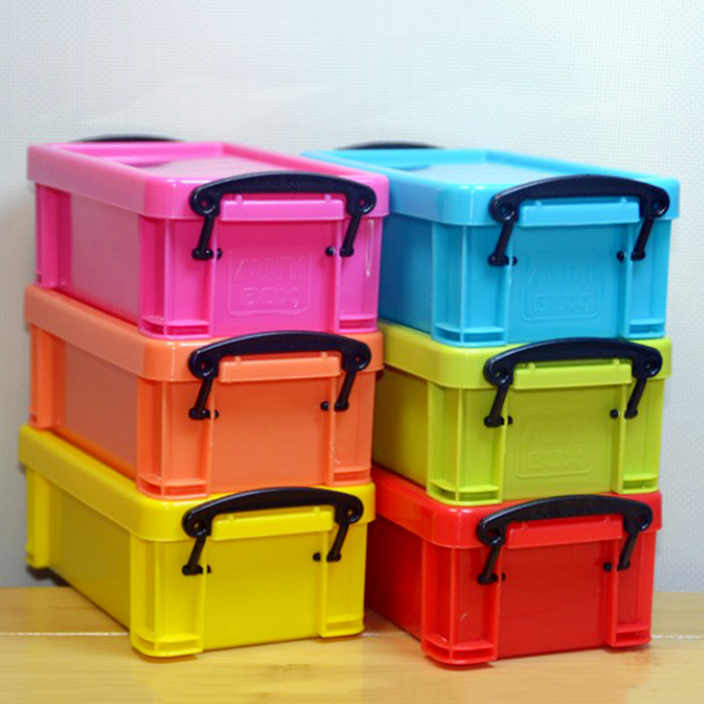 Kitchen Food Storage High Quality 0.5L Latch Box Colorful With Lid Food Sealed Container Basket Case Toy Storage Box Sealed