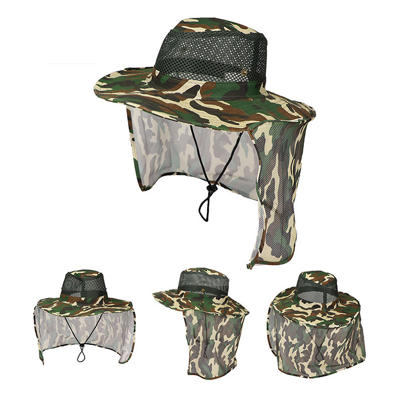 Outdoor Breathable Net Cap Camouflage Pattern Fishing Hat Shade Cool Polyester Wide Brim Casual Fashion Portable Summer Be Shrewd In Money Matters
