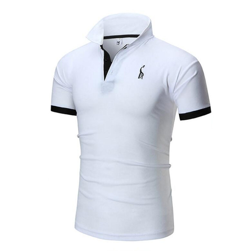 2019 HOWL LOFTY Mens   Polo   Shirt Brands Male Short Sleeve Casual Slim Solid Color Deer Embroidery   Polo   shirt