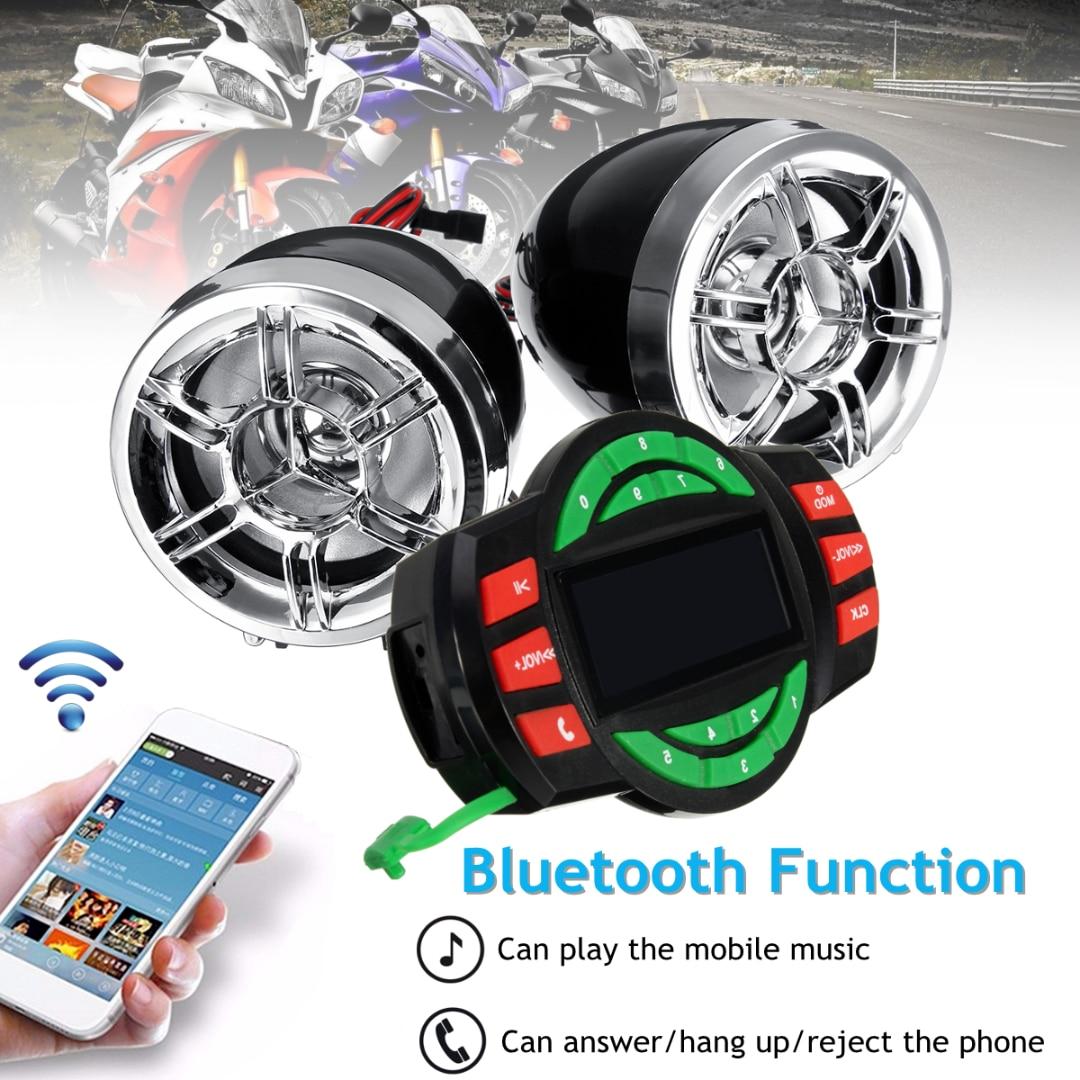 JXLCLYL Bluetooth Motorcycle Audio System USB SD FM Radio MP3 Speaker Waterproof