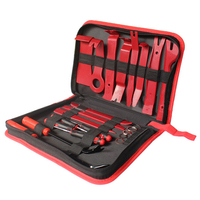 22pcs Set Car Metal Plastic Car Auto Trim Removal Tool Audio Speaker Door Panel Open Molding Set Kit Pouch Pry Tool Hand Tools