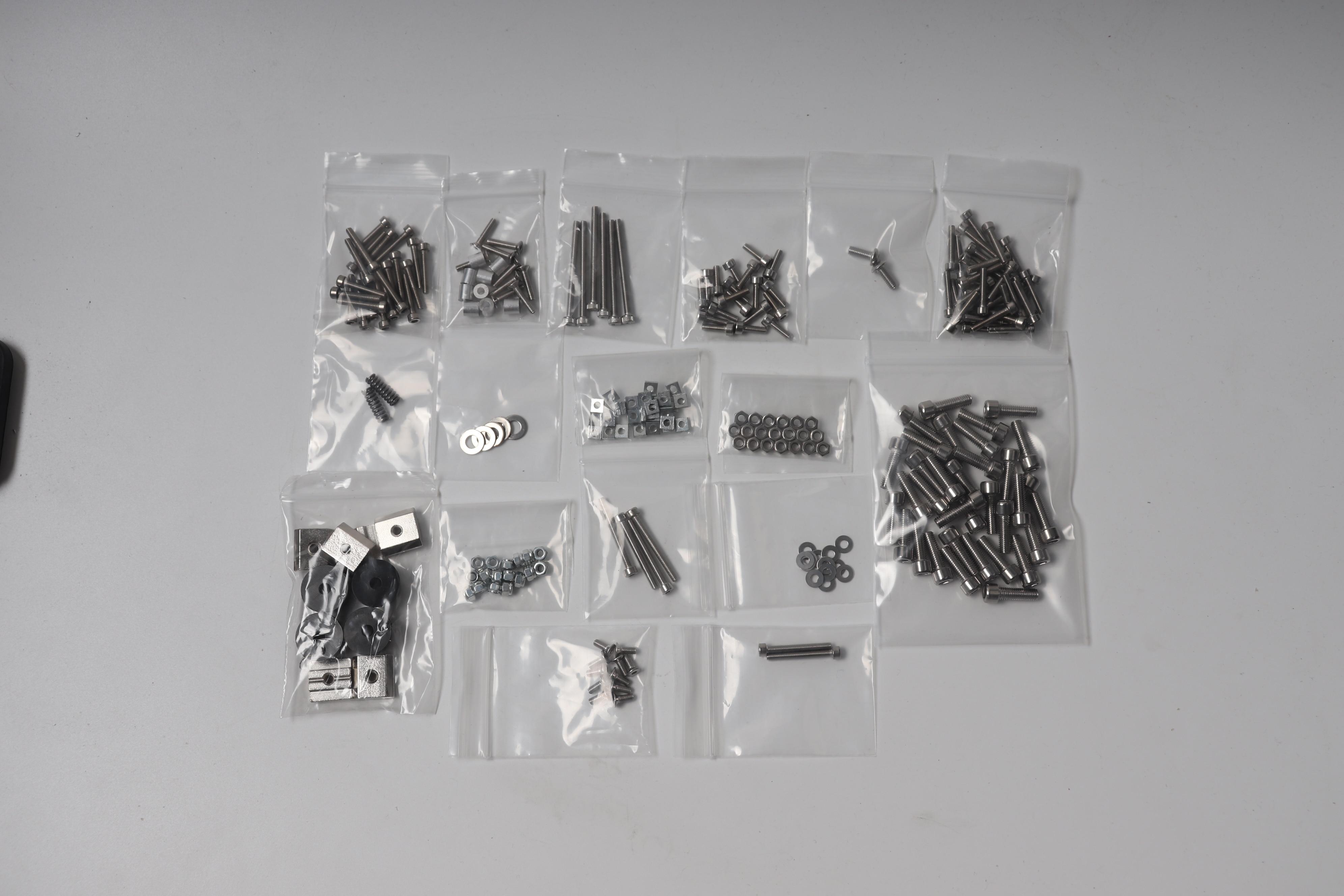 1.7 fino quadrado porca todo o kit pruas i3 mk3 parafuso porca peças da máquina de ferragem para prusa i3 mk3 impressora 3d peças mk3 parafusos kit