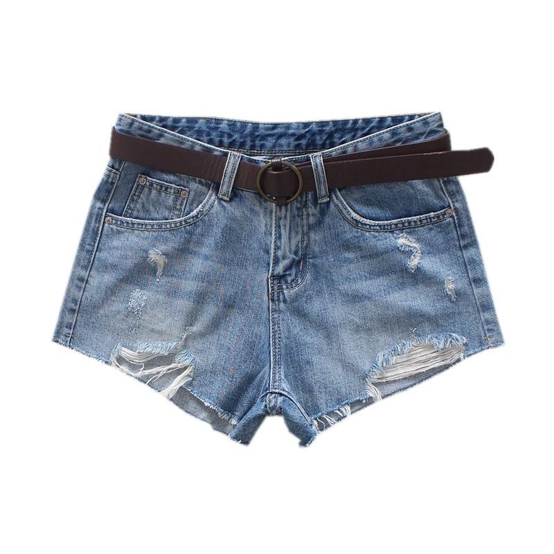 679030afa1734 2019 короткие джинсы модные джинсовые шорты с высокой талией женские рваные  летние уличные Женские повседневные шорты