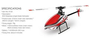 Image 4 - K120 Shuttle 6CH Brushless 3D 6G System RC Helicopter RTF/BNF Remove Control Toys Children Kids Adult Toys Birthday Gift
