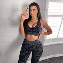 8ea5569a97 Gxqil marca ginásio mulher sportswear 2019 impresso terno de fitness roupas  treino camuflagem feminina para as mulheres esportes.
