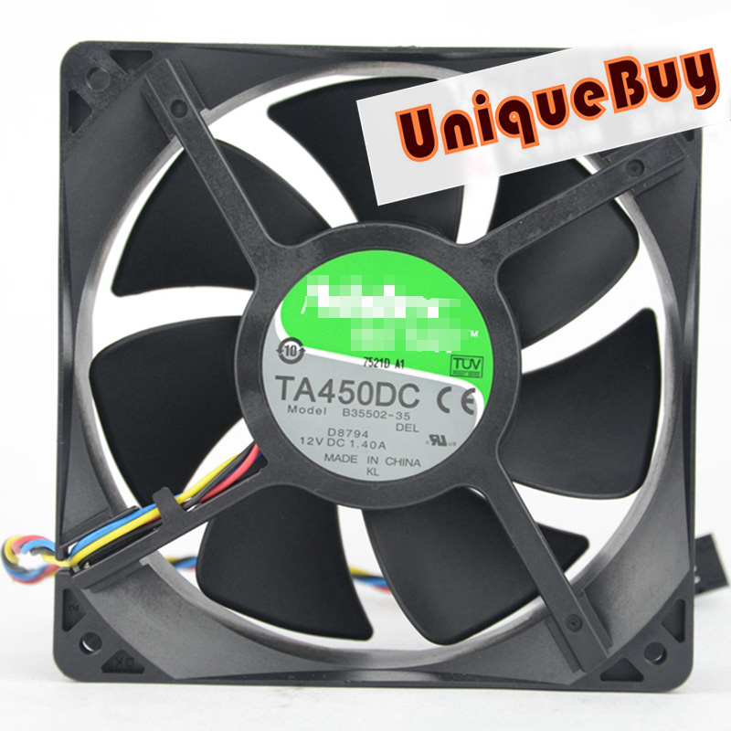 1pc for NIDEC TA450DC B35502-35 <font><b>120</b></font>*<font><b>120</b></font>*38mm 12V 1.40A cooling fan <font><b>4pin</b></font> Processor <font><b>Cooler</b></font> Heatsink Fan image