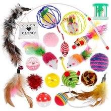 Игрушки для котят набор различных видов, милые игрушки-котята для кошек 20 штук-набор игрушек для кошек, включая удочка для игры с кошкой, лучшие игрушки для кошек для Exer