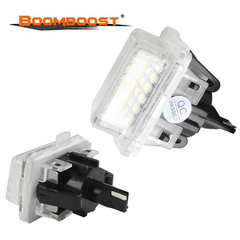 2PCS 12V 18 SMD Car LED License Number Plate <font><b>Light</b></font> Lamp For Mercedes/<font><b>Benz</b></font> W204 <font><b>W221</b></font> W212 W216 image
