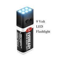 Outdoor LED Licht Blocklite 9 Volt LED Taschenlampe Camping Licht Kompakte Größe Ultra Helle Im Freien Werkzeuge Camping Licht
