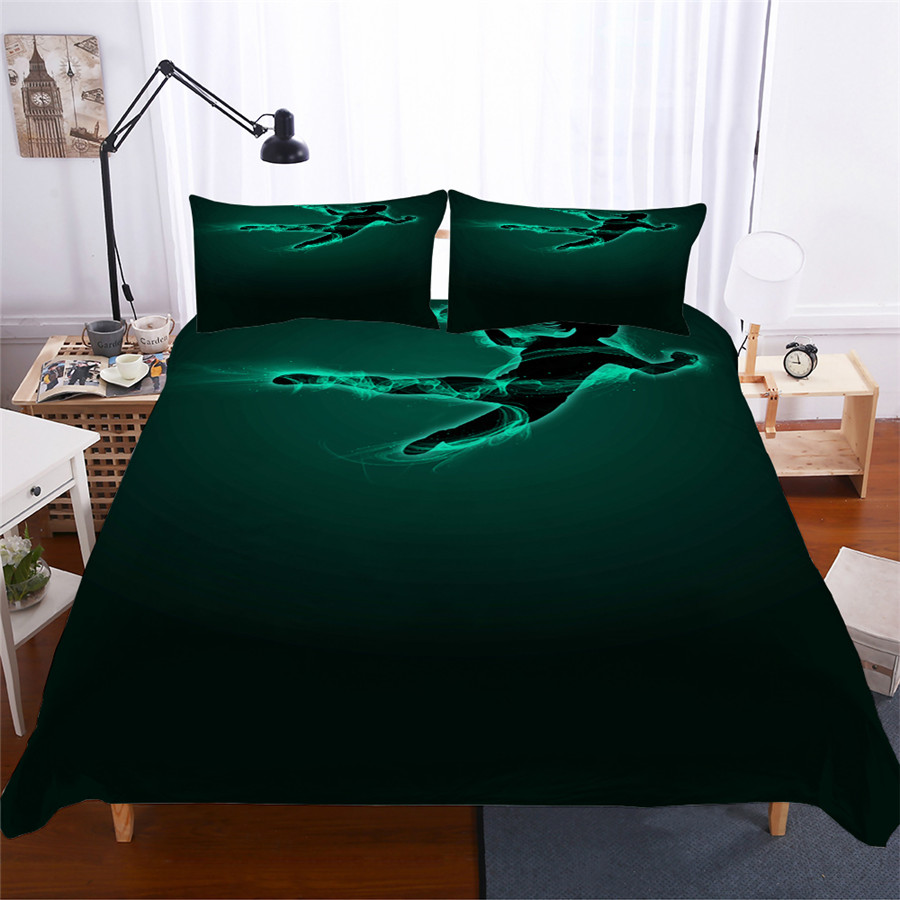 Bedding Set 3D Printed Duvet Cover Bed Set Basketball Home Textiles for Adults Lifelike Bedclothes with Pillowcase #LQ08-in Bedding Sets from Home & Garden