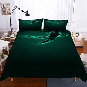 Image 1 - Zestaw pościeli 3D kołdra z nadrukiem pokrywa łóżko – zestaw do koszykówki tekstylia domowe dla dorosłych realistyczne pościel z poszewka na poduszkę # LQ08