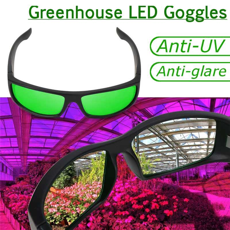 ae5abb6b2a Plant Light Eye Protect Glasses LED Grow Room Glasses Anti glare Anti UV  Green Lens Glasses for Tent Greenhouse Hydroponics-in Growing Lamps from  Lights ...