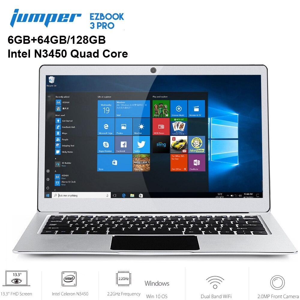 Jumper EZBOOK 3 PRO 13.3 inch Notebook Windows 10 Intel Apollo Lake N3450 6GB RAM 64GB Laptop eMMC HDMI Dual WiFi