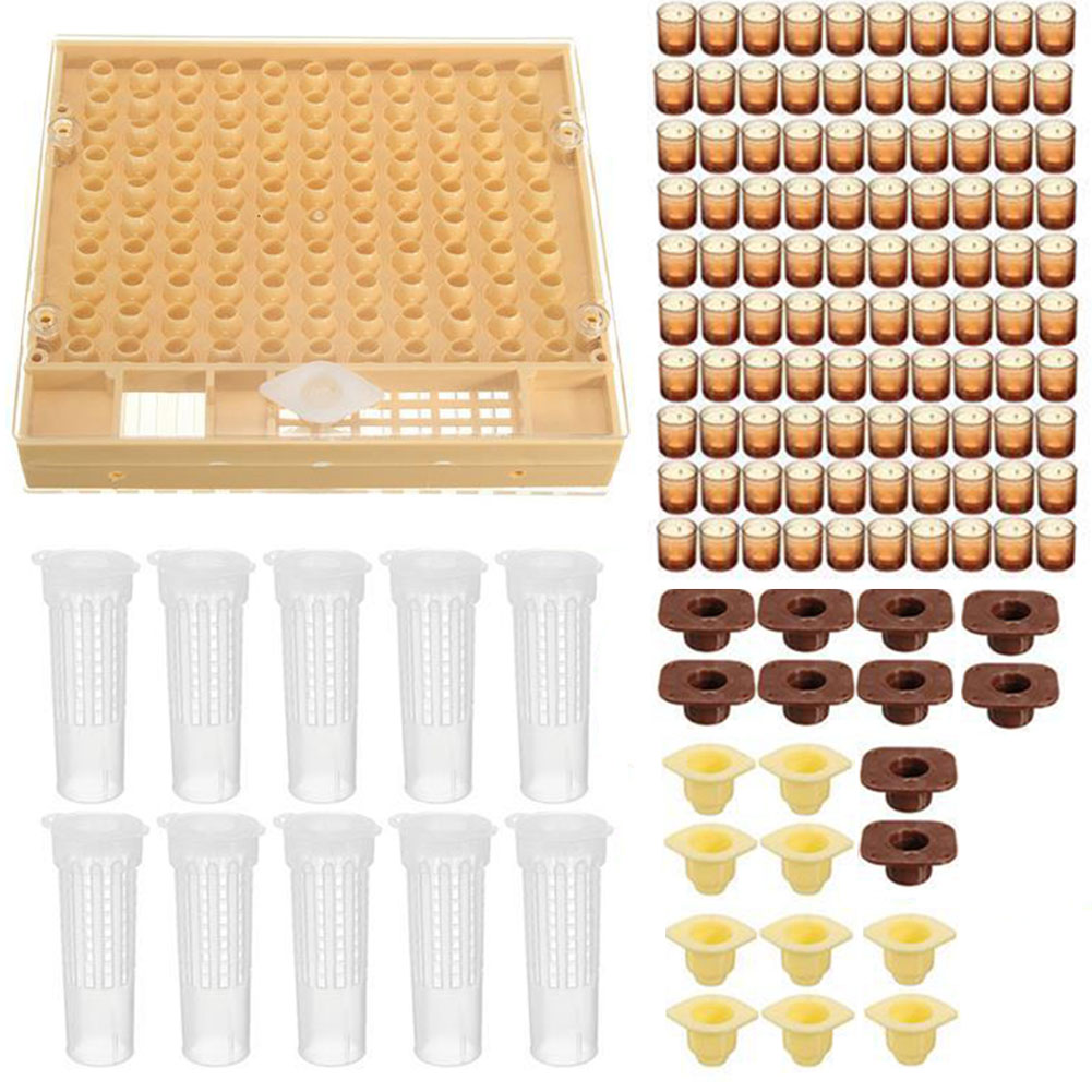 Durable Queen Rearing System Pet Supplies Apiculture Helper Tools Practical Beekeeping Tool Kit Bee Nicot 100 Cell Cups Cupkit