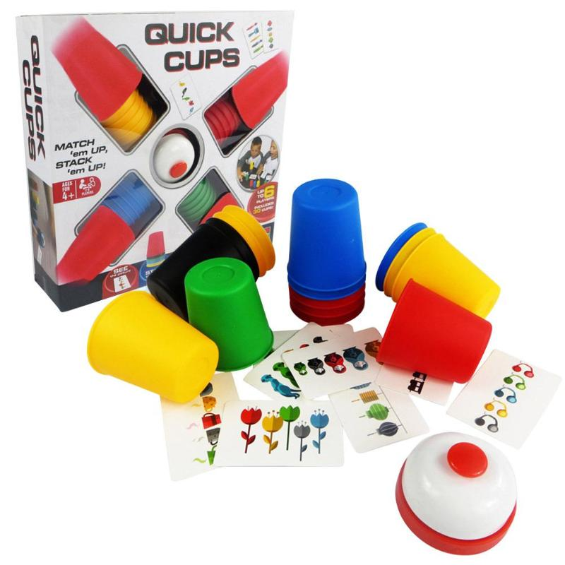 30pcs/set Classic Card Games Speed Cups Stacking Game Cards Game Family Kids Board Indoor Funny Party Games For Child Gift