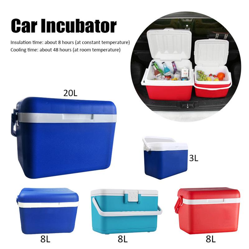 3L 8L 20L Car Insulation Box Outdoor Car Cooler Box Ice Organizer Medicine Preservation Box Home Barbecue Fishing Box