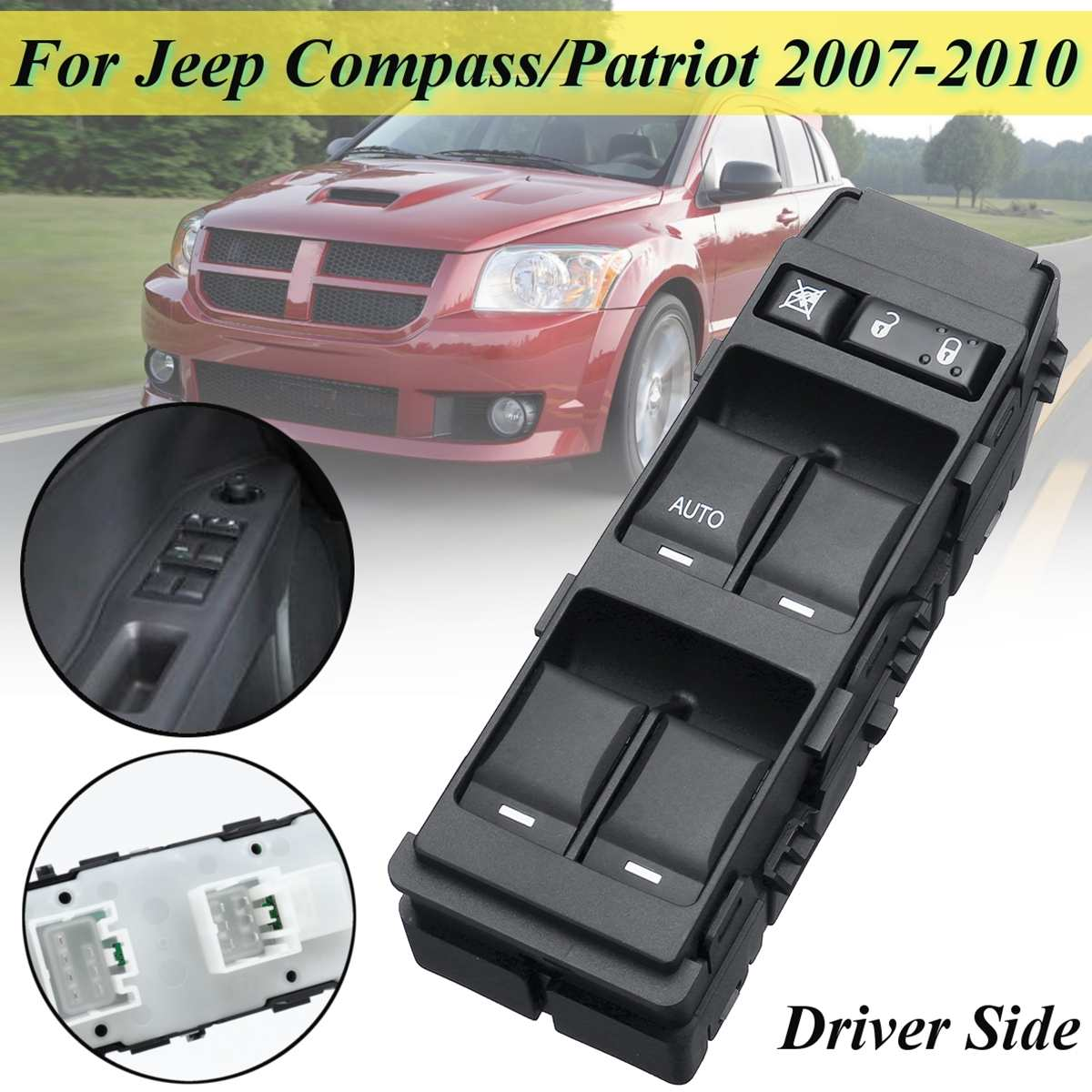 56040691AD Front Left LHD Window Switch Replacement For Dodge Caliber For Jeep For Compass Patriot 2007 2008 2009-10 56040691AB
