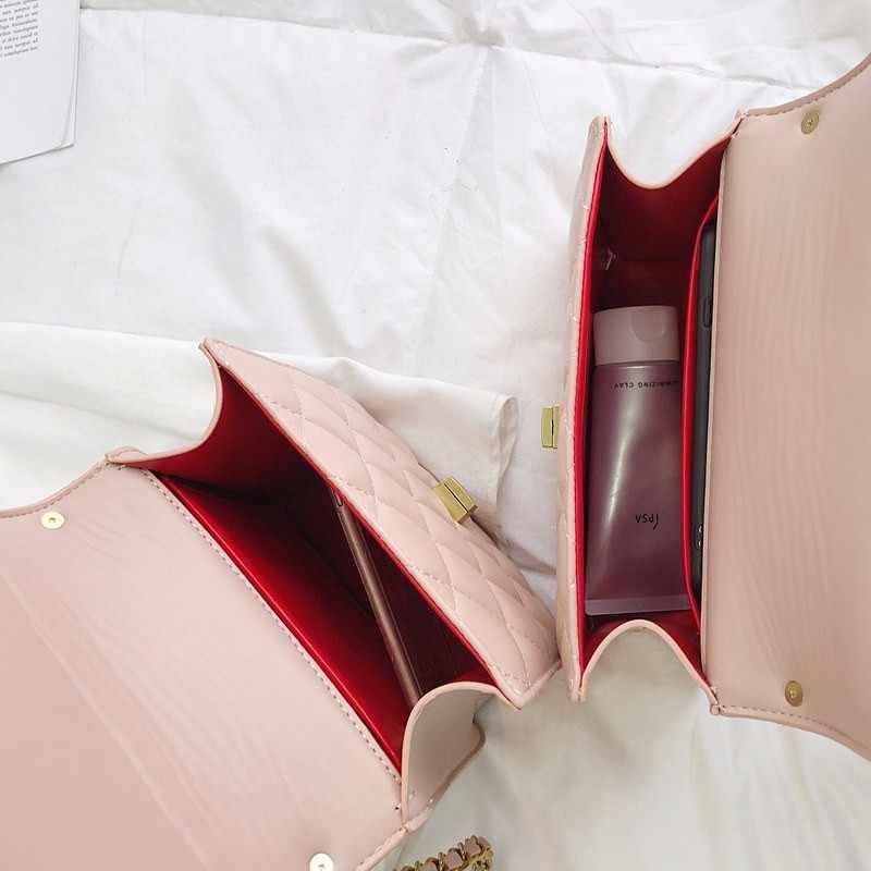 أزياء المرأة حقيبة حقيبة كتف جلدية pu Lingge لينة سلسلة بولسا الأنثوية حقيبة يد فاخرة حقائب النساء مصمم حقائب موهير الكيس