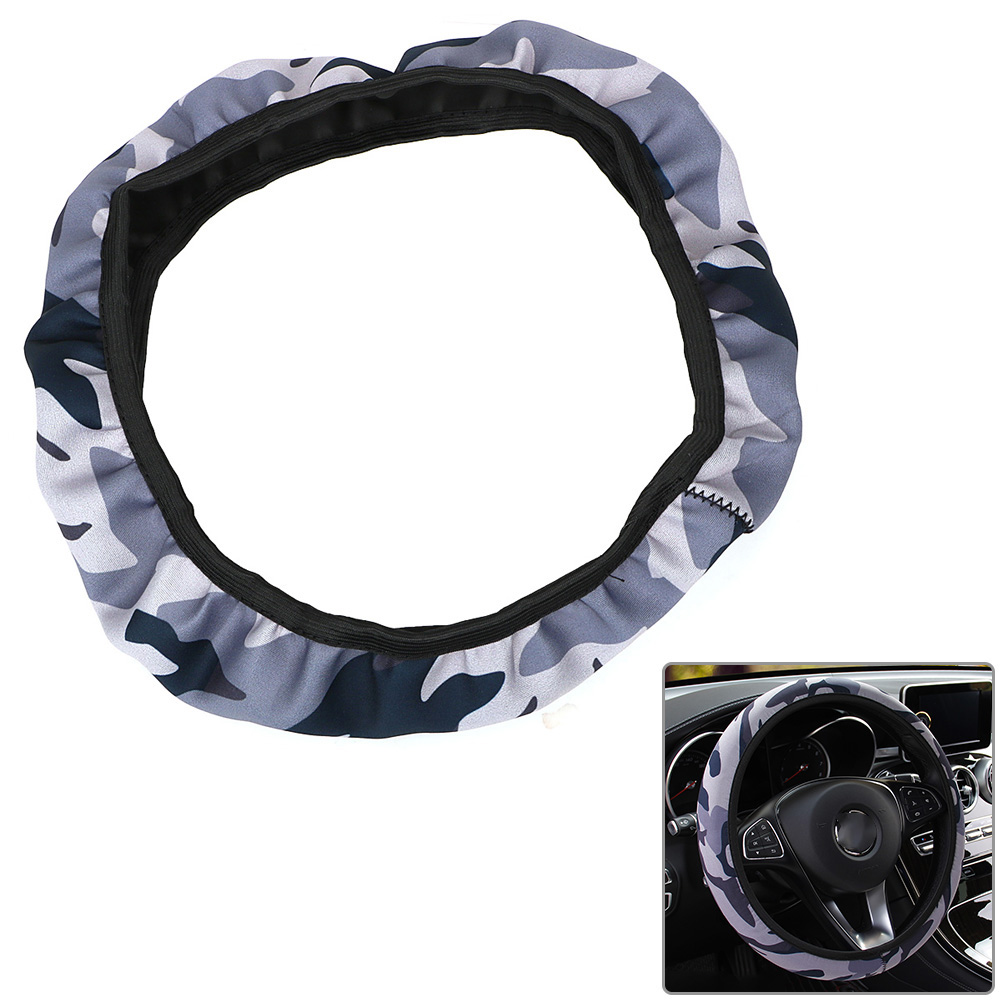 Image 4 - Camouflage Car Steering wheel Cover Fit For Most Cars Car Styling SBR Lycra Steering Cover Auto Interior Accessories Anti slip-in Steering Covers from Automobiles & Motorcycles