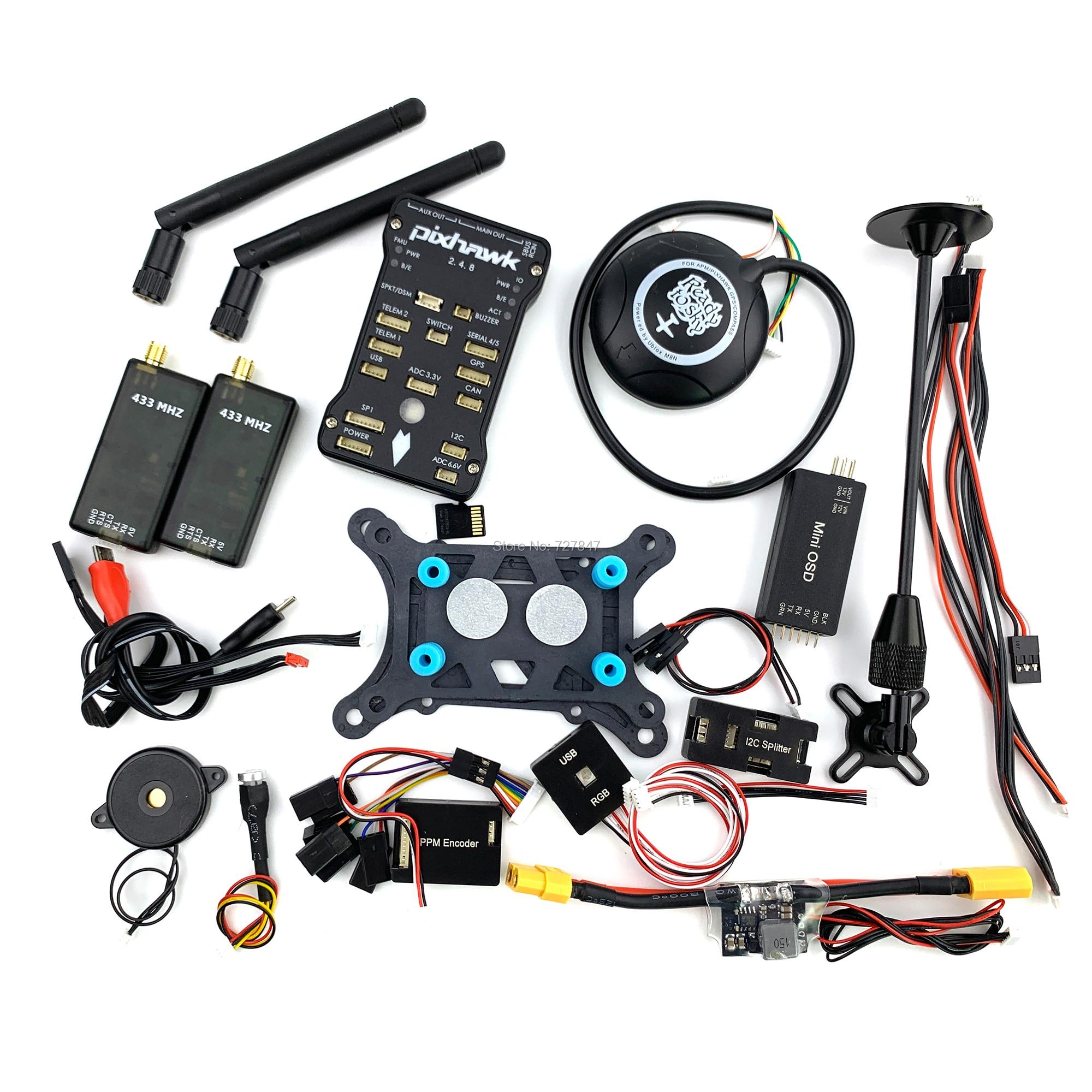 Pixhawk PX4 PIX 2.4.8 32 Peu Vol Contrôleur + 433/915 Télémétrie + M8N GPS + Minim OSD + PM + Interrupteur de sécurité + Buzzer + RGB + PPM + I2C + 16G SD - 5