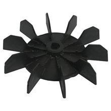 Replacement 0.5 Inner Bore 10 Impeller Air Compressor Motor Fan Blade Black spare part 24mm inner diameter 6 vanes impeller plastic motor fan blade wheel