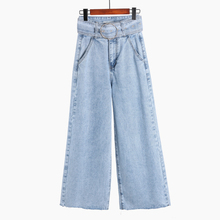 Women Jeans Denim Pants 2019 Spring Summer Boyfriend Female Vintage Casual High Waist Demin Wide Leg Pant Trousers