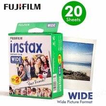 ของแท้Fujifilm Instaxฟิล์มกว้างสีขาว20แผ่นสำหรับฟูจิกล้องถ่ายรูปทันที300/200/210/100/500AFจัดส่งฟรี