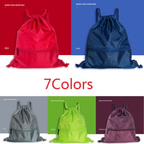 NEW String Drawstring Backpack Cinch Pack Bag Gym Tote School Sport Sack Travel