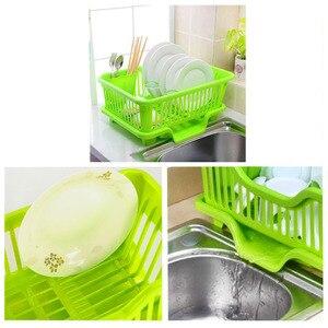 Белая зеленая кухонная раковина, блюдо, многофункциональная сушилка для слива, кухонный держатель для мытья, корзина, органайзер, лоток