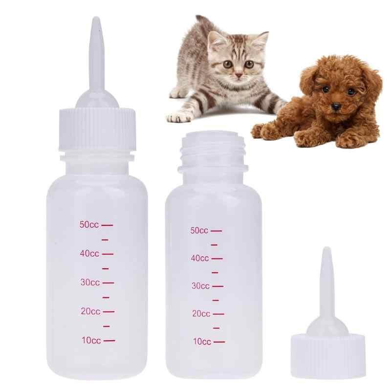 50 ml Pet Alimentador Garrafa De Leite Enfermagem Mamadeira para o Gatinho Filhote de cachorro Cães Pequenos Gatos Animal Bebê Alimentador do animal de Estimação Produtos