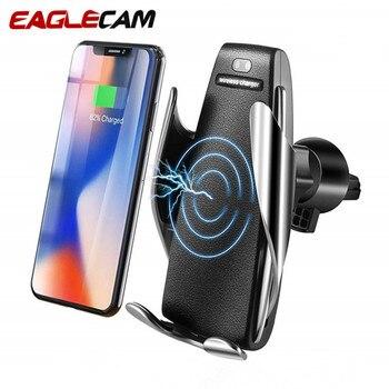 8ae8d9c484e Coche cargador inalámbrico Qi para iPhone XS Max X 10 W rápido de carga  inalámbrica para Samsung Galaxy S9 S10 Xiaomi cargador del soporte del  teléfono del ...
