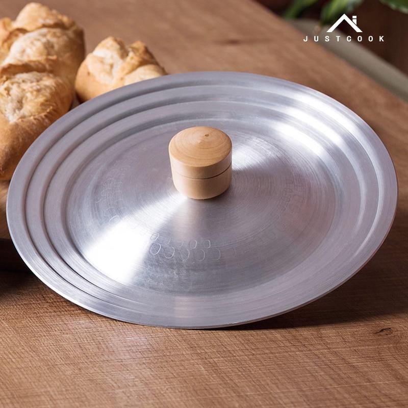 Алюминий сплав горшок снегом плоской сковороде молоко горшок супа вок деревянной крышкой handle16-24cm шлифования кастрюля сковородке кухонная ...