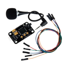 цена на Voice Recognition Module With Microphone Dupont Speech Recognition Voice Control Board For Arduino Compatible