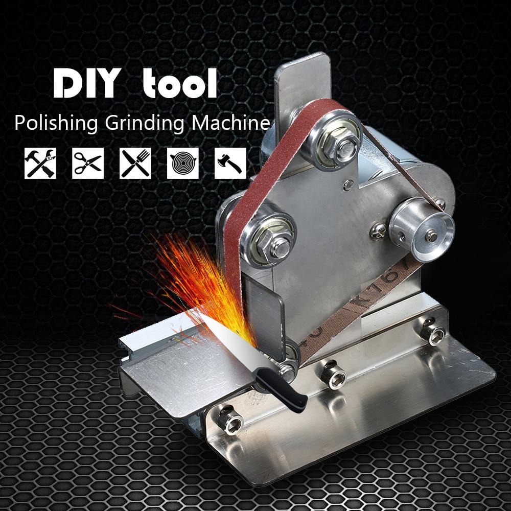 Multifunctional AC 110 240V Grinder Mini Electric Belt Sander DIY Polishing Grinding Machine Cutter Edges Sharpener