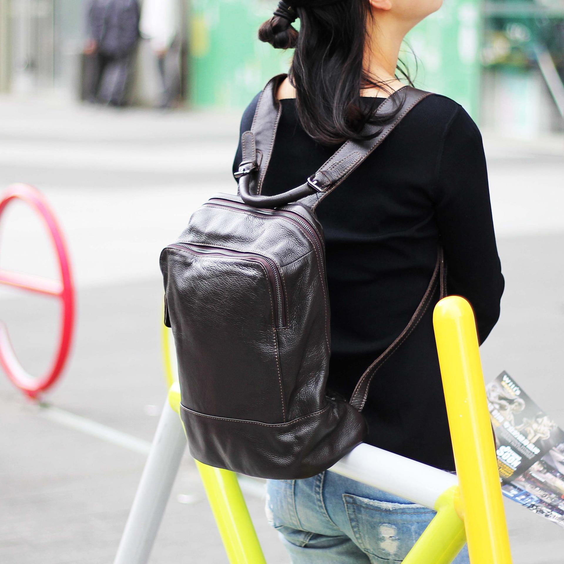 Noir À mocha Mode Femme Hommes Black Preppy Vacances Jouet Nouveau 100 Sac Style Cartable Décontracté Cuir En Dame Pour De Véritable Fille Dos 6Fq5BX