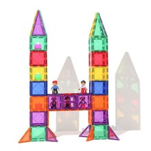 164 / 215 184 400 Unids Construction Game Design Model Of Magnetic Toy Building Blocks Educational Mini Plastic