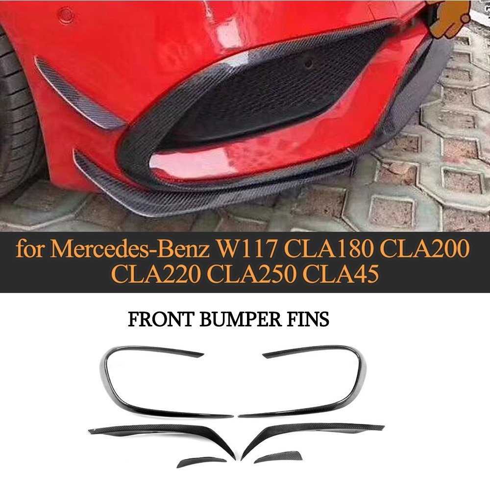 Car Front Bumper Air Vent Fender Trim For Mercedes Benz W117 CLA45 AMG 2017 2018 Base 4Matic Sedan 4 Door Carbon Fiber