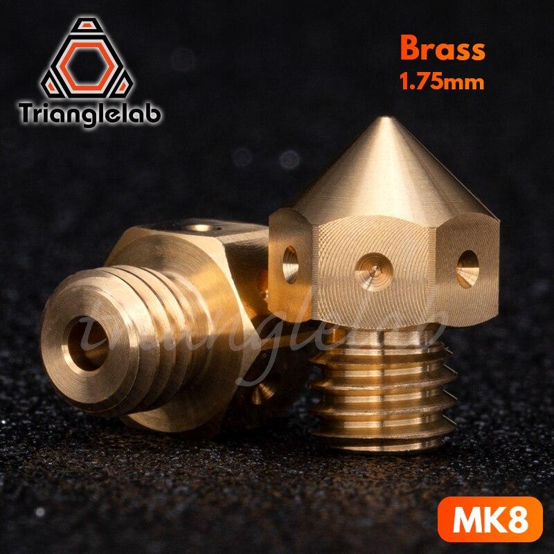 Bocal de bronze mk8 da qualidade superior de trianglelab para impressoras 3d hotend 1.75mm filamento j-cabeça cr10 bloco de calor ender3 hotend m6 thread