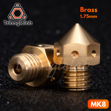 trianglelab Top quality Brass MK8 Nozzle for 3D printers hotend 1.75MM Filament J-head cr10 heat block ender3 hotend m6 Thread(China)